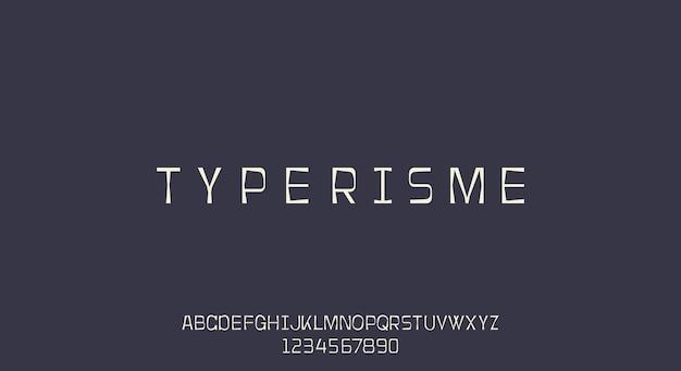 Typerisme, uma fonte de máquina de escrever, design de fonte vintage retrô grunge.