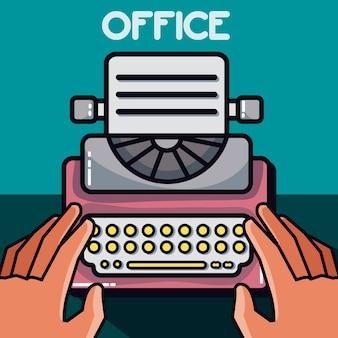Typewriter office element vector illustration design gráfico