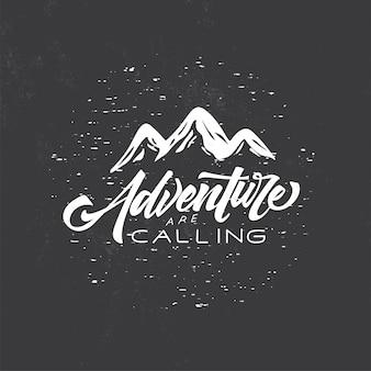 Typography badge adventure time