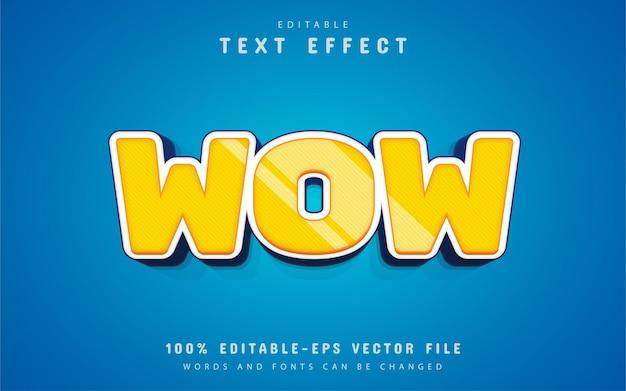 Uau efeito de texto estilo desenho animado