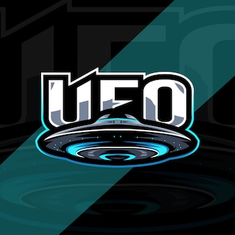 Ufo mascote logotipo esport modelo de design