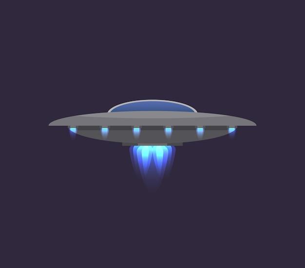 Ufo no ícone do espaço profundo