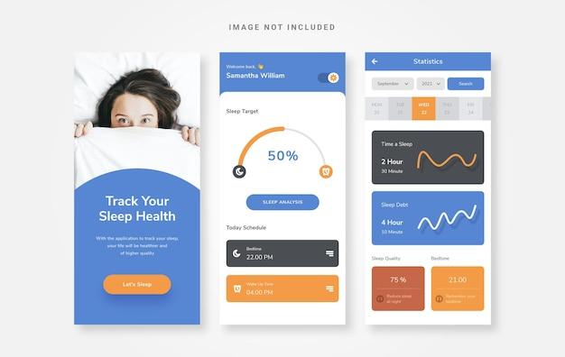 Ui design simple sleep tracker app