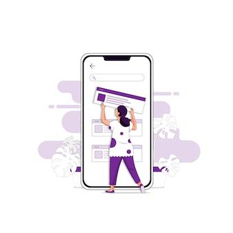 Ui / ux design ilustração conceito