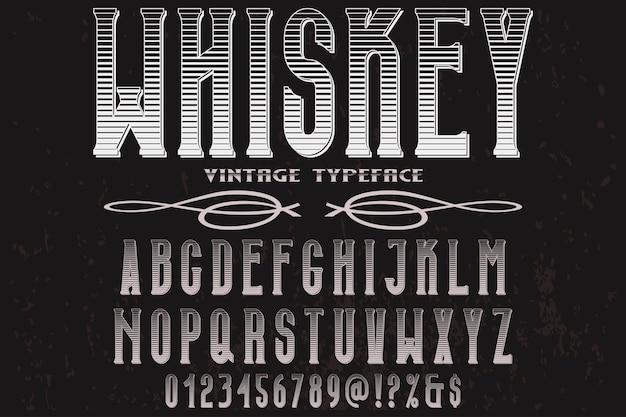 Uísque retro do projeto da etiqueta da tipografia