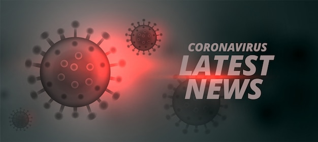 Últimas notícias de design de conceito de banner para coronavírus