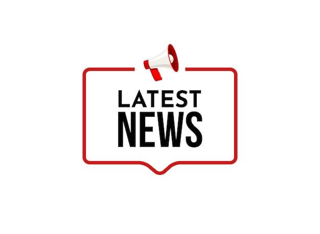 Últimas notícias de última hora. jornal diário ou conceito de ícone de banner de relatório de notícias.