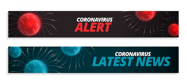 Últimas notícias e banner de alerta para pandemia de coronavírus