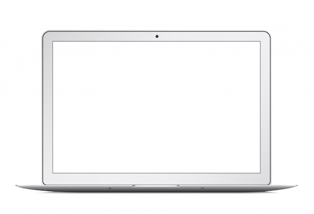 Ultrabook laptop fino moderno isolado