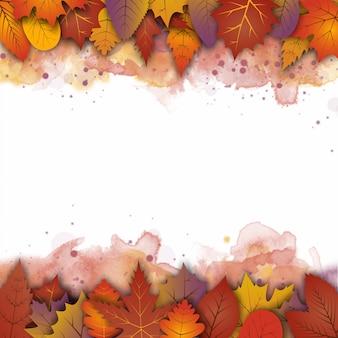 Um abstrato de outono