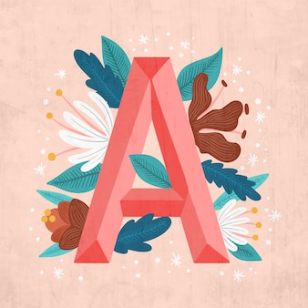 Um alfabeto de letras criativas