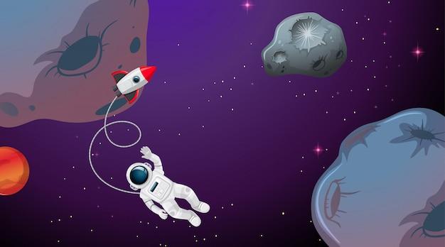 Um astronauta no espaço
