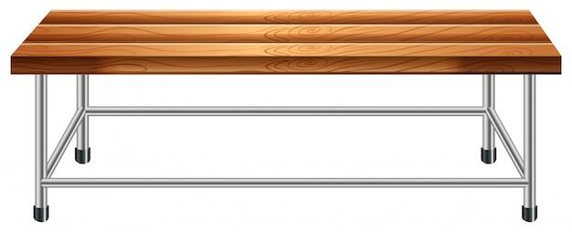 Um banco de madeira