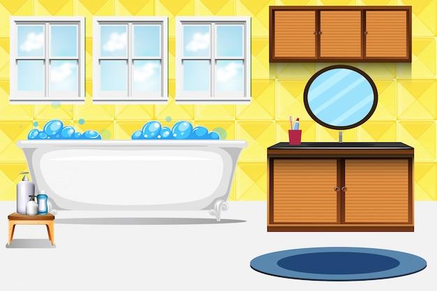 Um, banheiro, interior, fundo