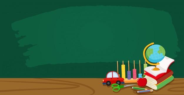 Um banner de quadro de sala de aula