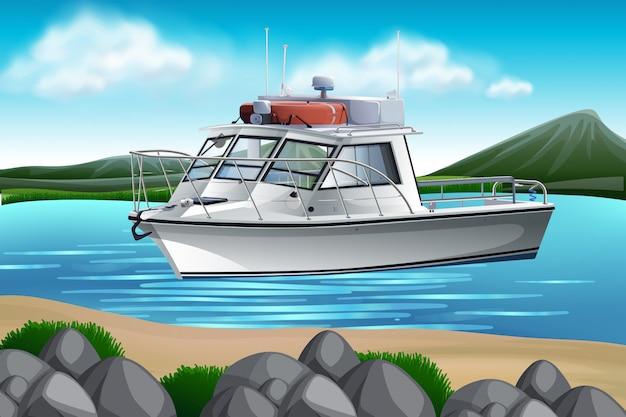 Um barco na natureza