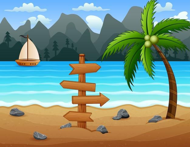 Um barco na praia tropical