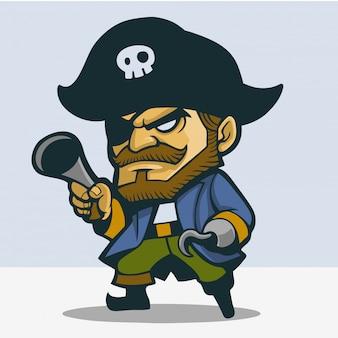 Um bonito pirata com patas