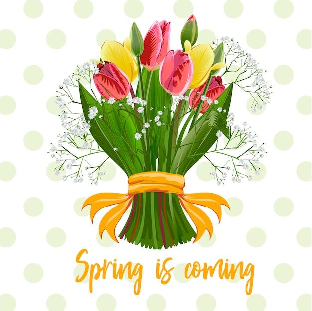 Um buquê de flores da primavera