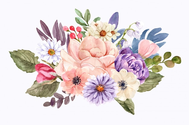 Um buquê de flores .