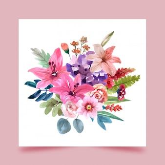 Um buquê de flores