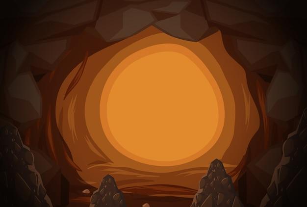 Um buraco de caverna misterioso