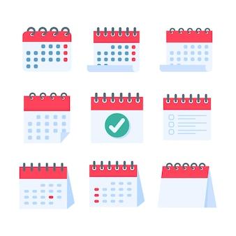 Um calendário vermelho para lembretes de compromissos e festivais importantes do ano.
