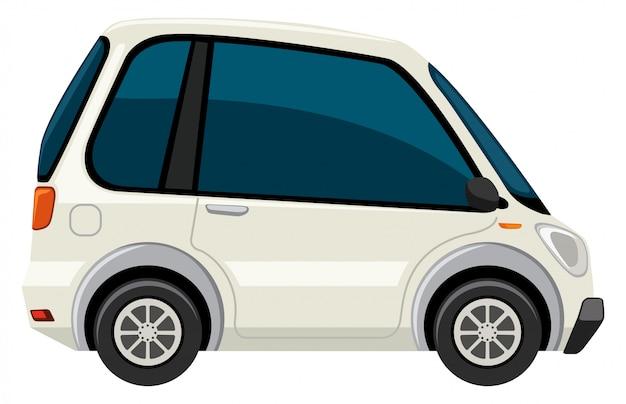 Um carro elétrico branco