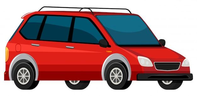 Um carro elétrico vermelho