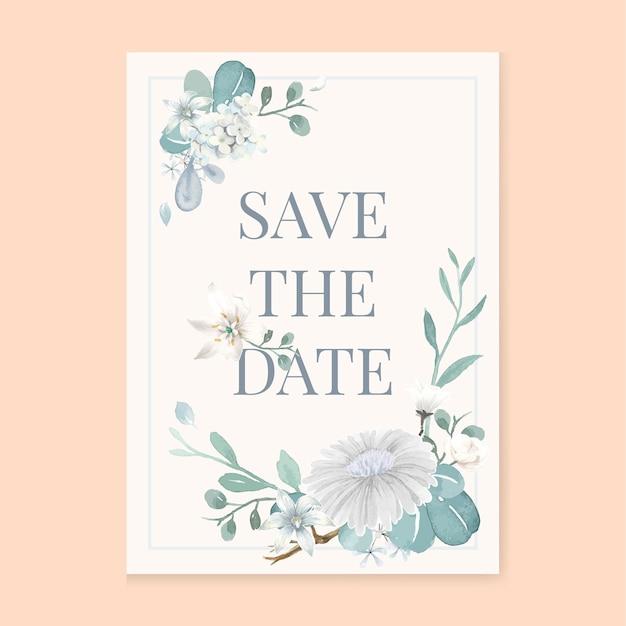 Um cartão de convite de fundo branco