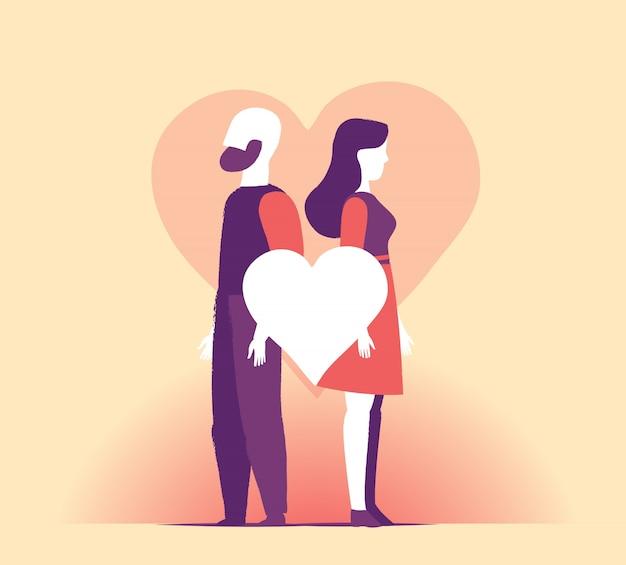 Um casal comemora o dia dos namorados