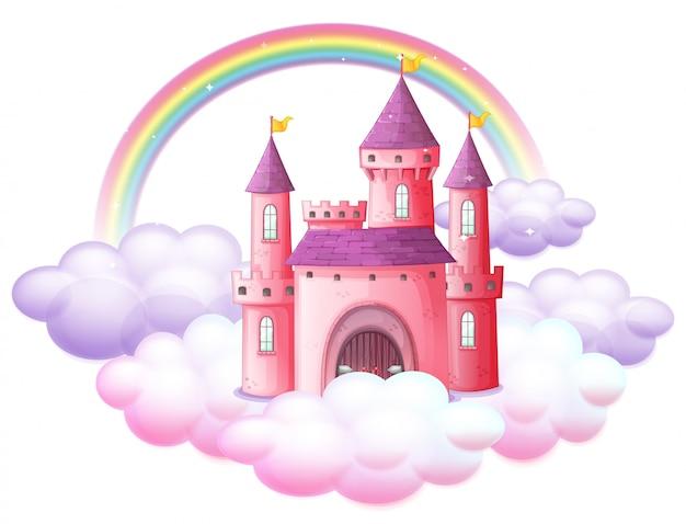 Um castelo de conto de fadas rosa
