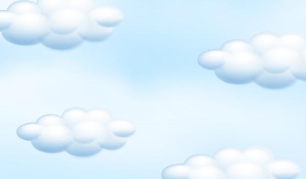 Um céu azul nublado