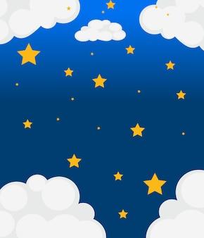 Um céu com estrelas brilhantes
