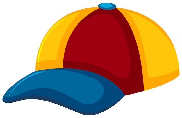 Um chapéu colorido no fundo branco