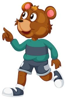 Um charatcer cartoon urso