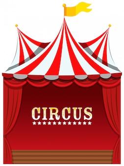 Um circo bonito em branco