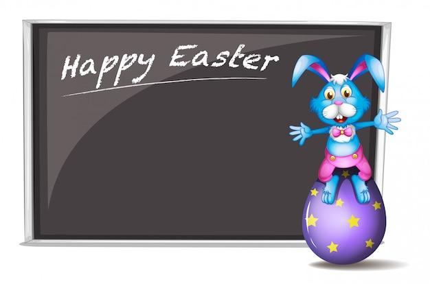 Um coelho e o ovo da páscoa