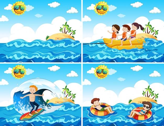 Um conjunto de atividades de praia