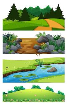 Um conjunto de bela paisagem