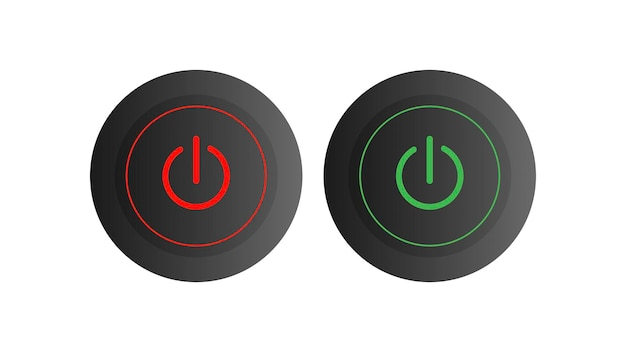 Um conjunto de botões arredondados