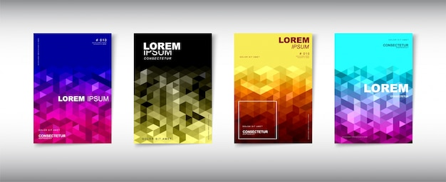 Um conjunto de design de capa abstrato moderno