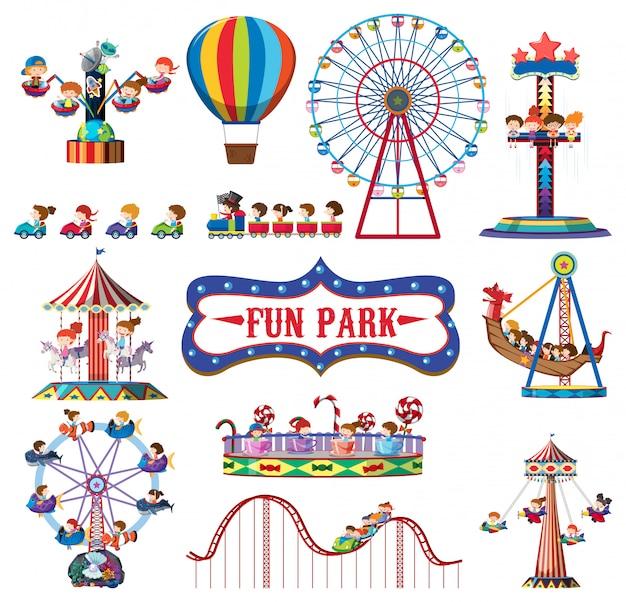 Um conjunto de divertidos parques