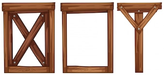 Um conjunto de elemento de madeira