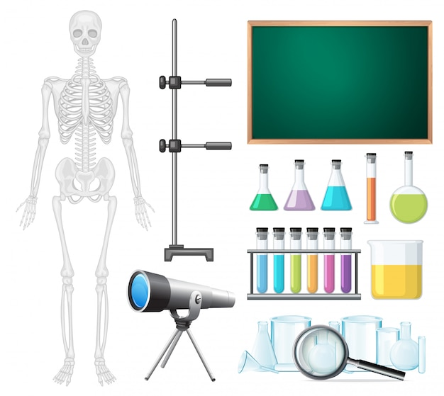 Um conjunto de elementos de sala de aula de ciências