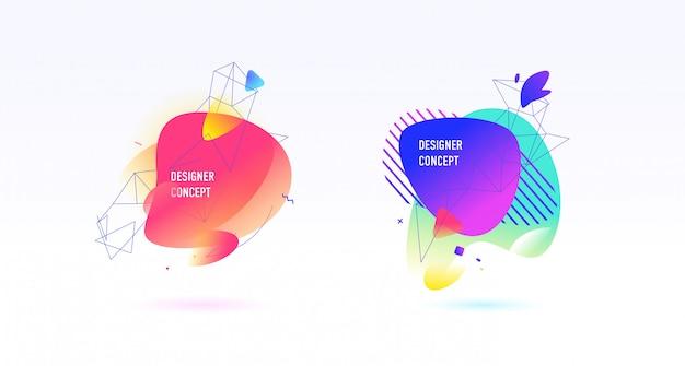 Um conjunto de elementos gráficos abstratos, planos de fundo. vetor.