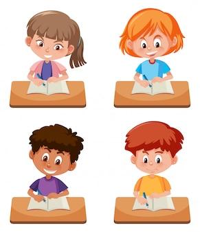 Um conjunto de estudo estudantil