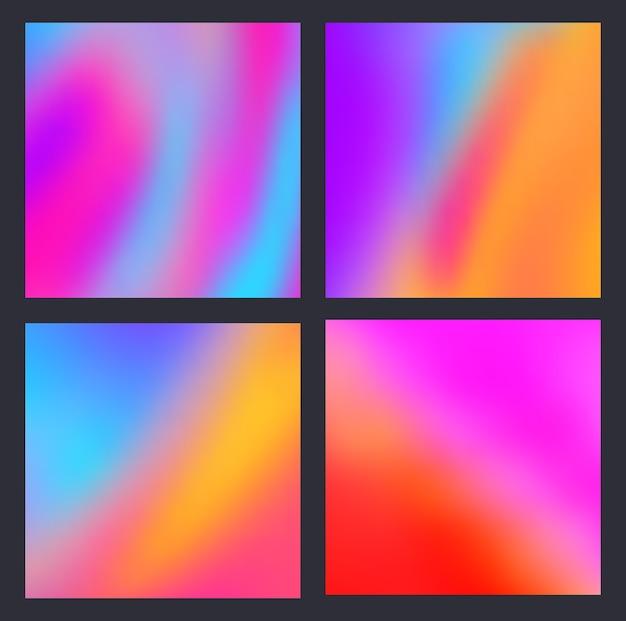 Um conjunto de gradiente de fundo líquido moderno