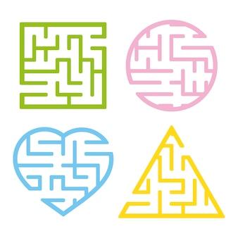Um conjunto de labirintos.