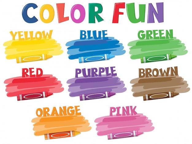 Um conjunto de lápis de cor